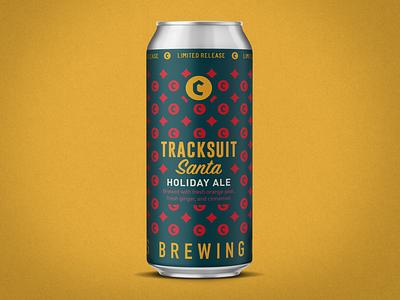Tracksuit Santa - 16oz vector 16oz beer label design beer branding beer art beer label beer can branding design