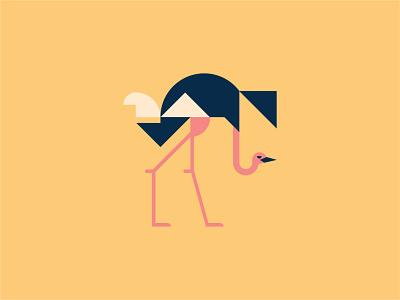Ostrich ostrich bird logo logo vector illustration design