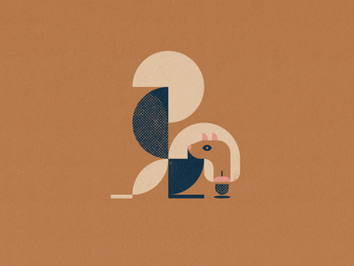 squirrel midcentury modern midcentury geometric design squirrel logo squirrel icon logo design vector illustration