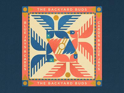 The Backyard Buds adobe illustrator pattern design bird illustration bandana bird vector illustration design bluejay cardinal