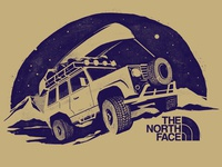 The North Face - truck illustration