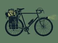 The North Face - bike tourin' illustration