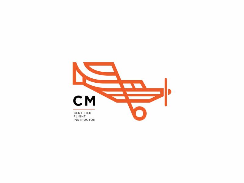 Christine Aviation logo flight plane adobe vector logo branding design illustration