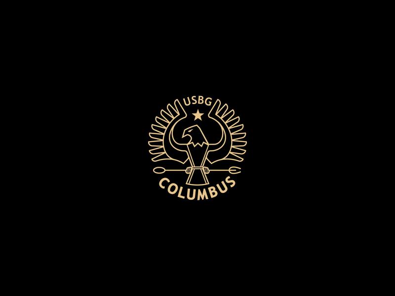 United States Bartenders Guild - Columbus chapter bartending eagle columbus adobe vector logo branding design illustration badge seal