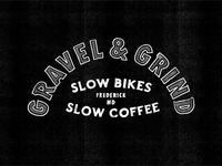 Lettering for Gravel & Grind bike shop