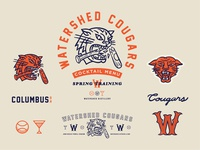Fake baseball team branding for a cocktail menu