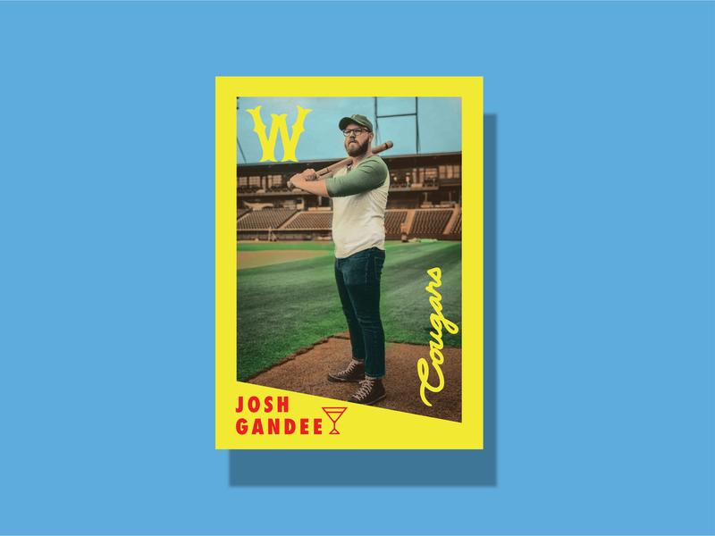 Watershed Cougars -  tradin' cards baseball vintage baseball vintage photograhy branding design
