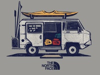 Illustration for The North Face - apparel graphics