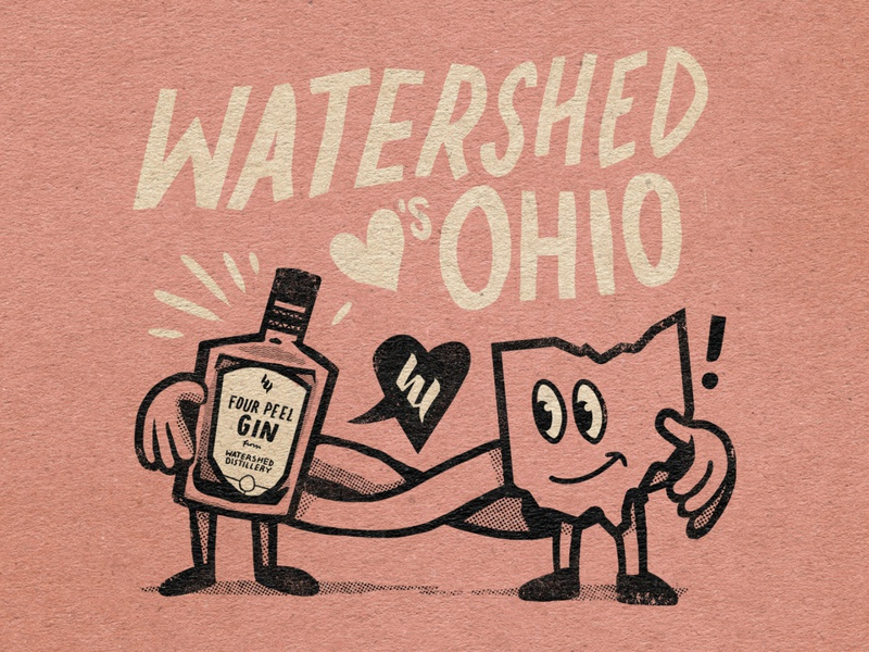 Watershed VDay graphic design drawing illustration
