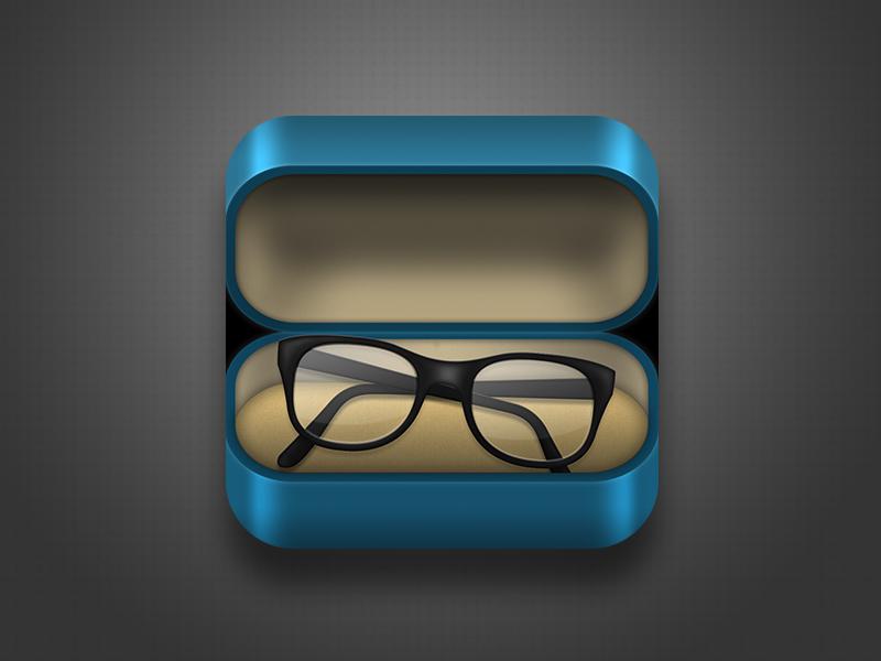 Glasses App Icon app icon glasses ios mobile ipad iphone case texture blue