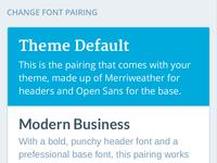 WordPress.com Font Pairings