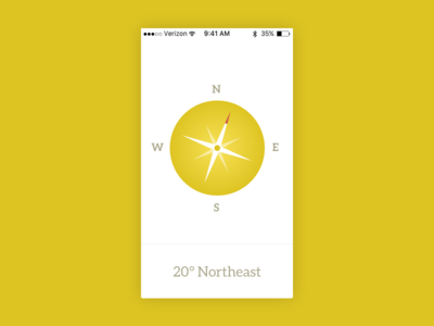 Daily UI #020 app compass ui daily ui