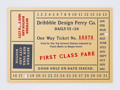 Daily UI #024 ui boarding pass ticket daily ui