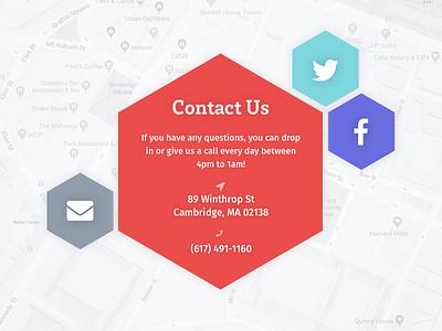 Daily UI #028 fira sans brix slab address contact ui daily ui