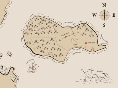 Daily UI #029 treasure map pirate treasure map daily ui
