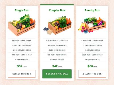 Daily UI #30 fruit vegetables food karla bree serif pricing table daily ui ui