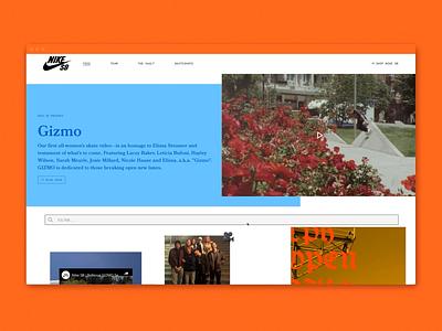 NikeSB.com interactive web design content skateboarding nike digital