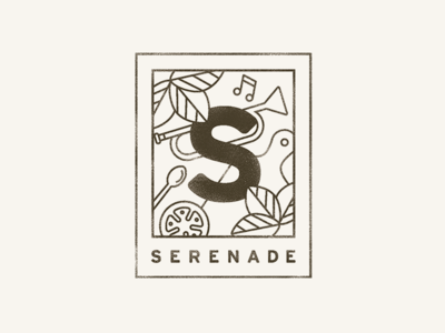 Serenade Final Secondary Wordmark serenade food music owen jones portland mark branding logo