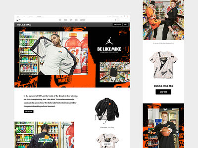 Jordan 'Be Like Mike' Collection web design mobile digital web jordan nike