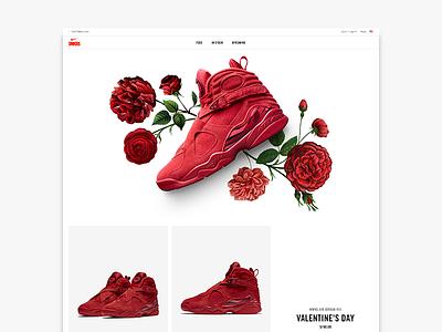 Women's Air Jordan VIII 'Valentine's Day' nike florals valentines day jordan women jordans air jordan sneakers