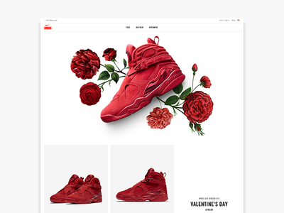Women's Air Jordan VIII 'Valentine's Day' nike florals valentines day jordan women jordans air jordan sneakers