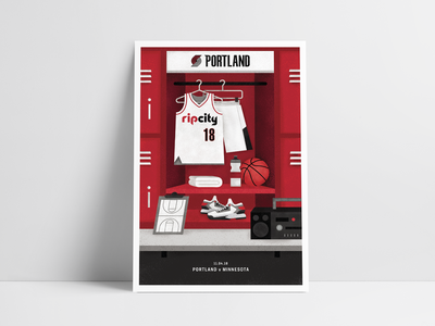 Portland Trail Blazers Gameday Poster 11/04 portland blazers illustration poster design poster basketball nba
