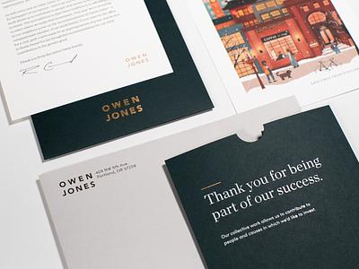 Owen Jones Holiday Card 2018 holiday card christmas procreate typography design branding portland illustration