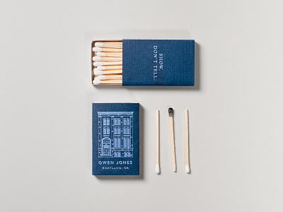 Owen Jones 2019 Matchboxes classy matches packaging print design building foil stamp matchbox design matchbox