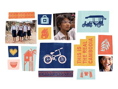 Non Profit Brand Exploration texture cambodia digital tiles non profit illustration branding