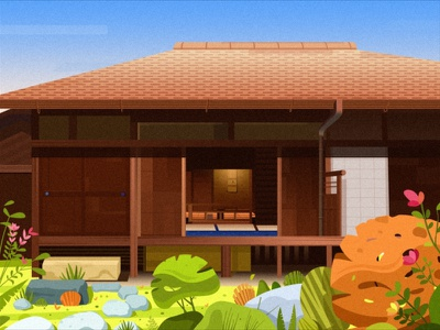Small courtyard ps illustration app 设计 ui chat、ui