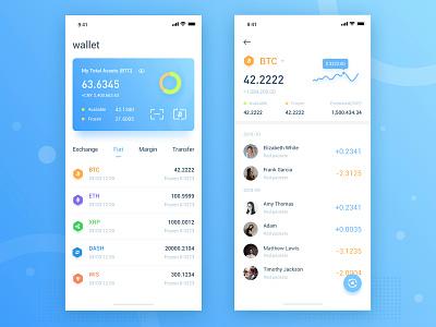 wallet blue 应用 设计 仪表板 区块链 ui