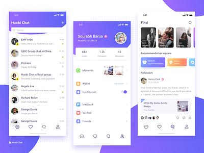 Huobi Chat 应用 design app chat、ui ui
