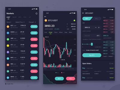 Digital Currency Exchange exchange 设计 仪表板 区块链 ui