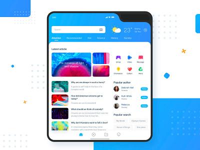 Foldable Phone Event App app popular 商标 蓝色 设计 ui folding