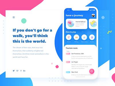 have a journey graphics logo blue app 设计 illustration ui