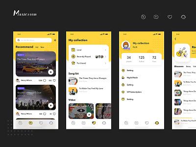 music room branding block chain design chat、ui 设计 ui