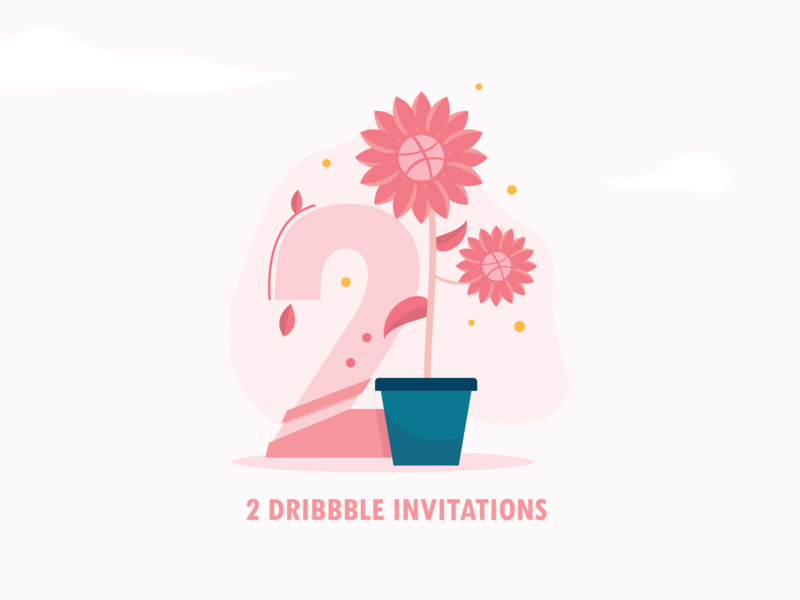Dribbble dribbble invite dribbble invitation invite landscape adobe illustrator illustrator design vector illustration