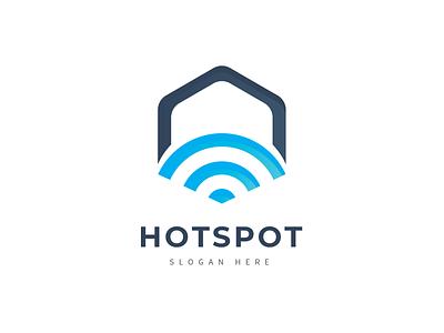 Hotspot Logo network wifi hostspot internet net cubical cube
