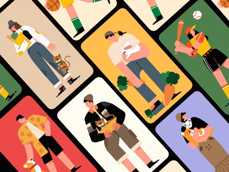Person poster design illustration/ui illustration
