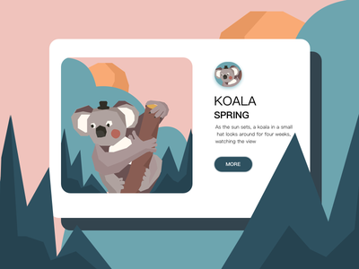 KOALA illustration/ui design illustration