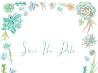 Save The Date - Succulents
