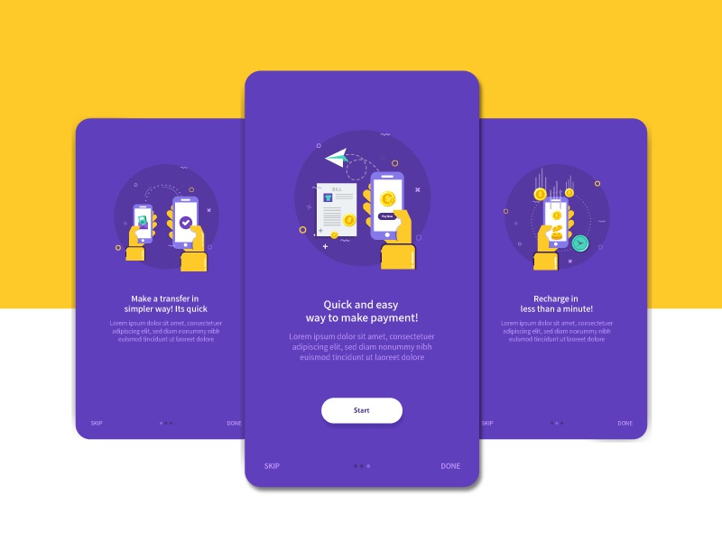 Onboarding Screens Design