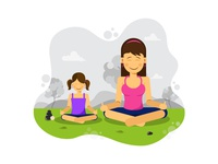 Mom And Daughter: Yoga