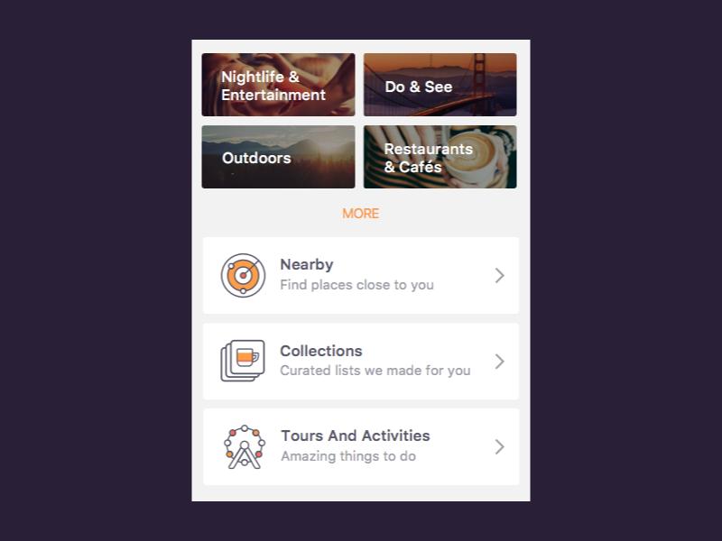Building an iOS home home screen discover categories ios