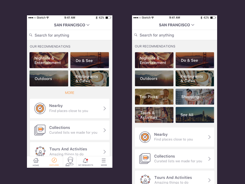 Explore explore icons discover search travel app mobile ios