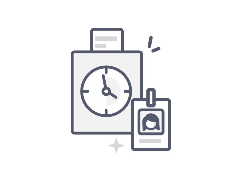 Punch Time icon hours punch time time illustration icons