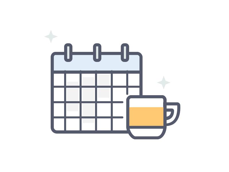 No Shift Today icon shift calendar illustration icons
