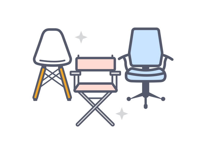 Chairs chair office chairs illustration icons