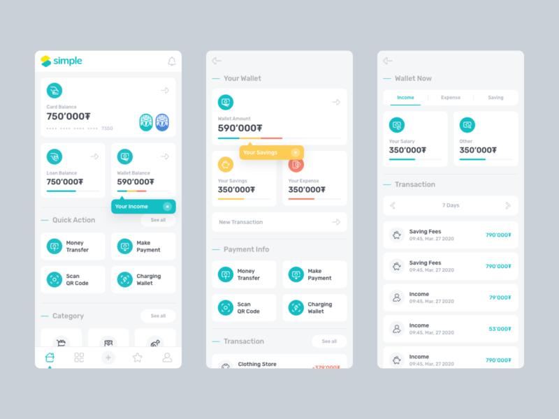 Simple - Lending app app application design design user experience design ui ui design ux design user interface design