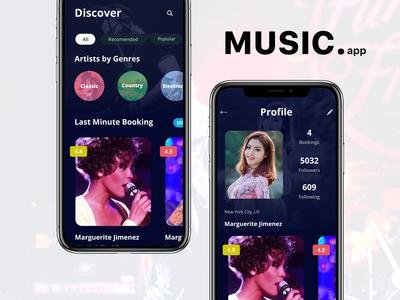 Music App - Artist by Genres